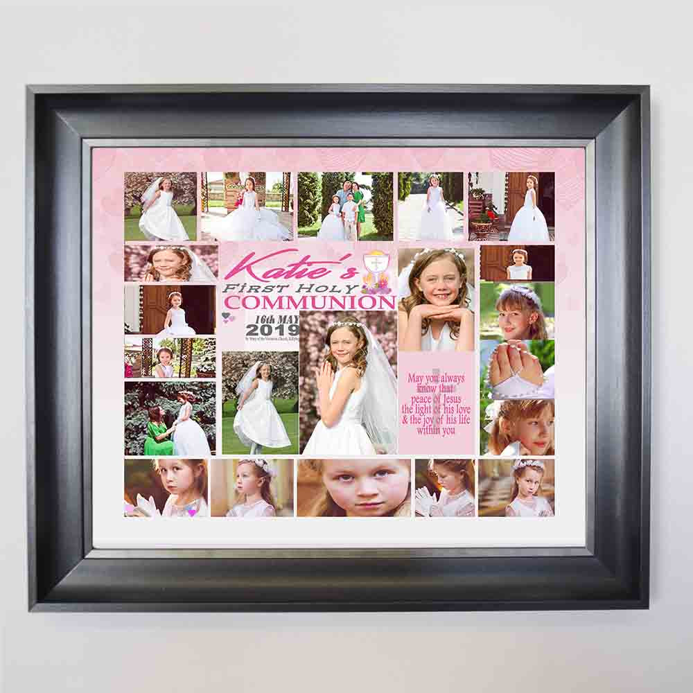 Light Of Love First Holy Communion Framed Photo Collage