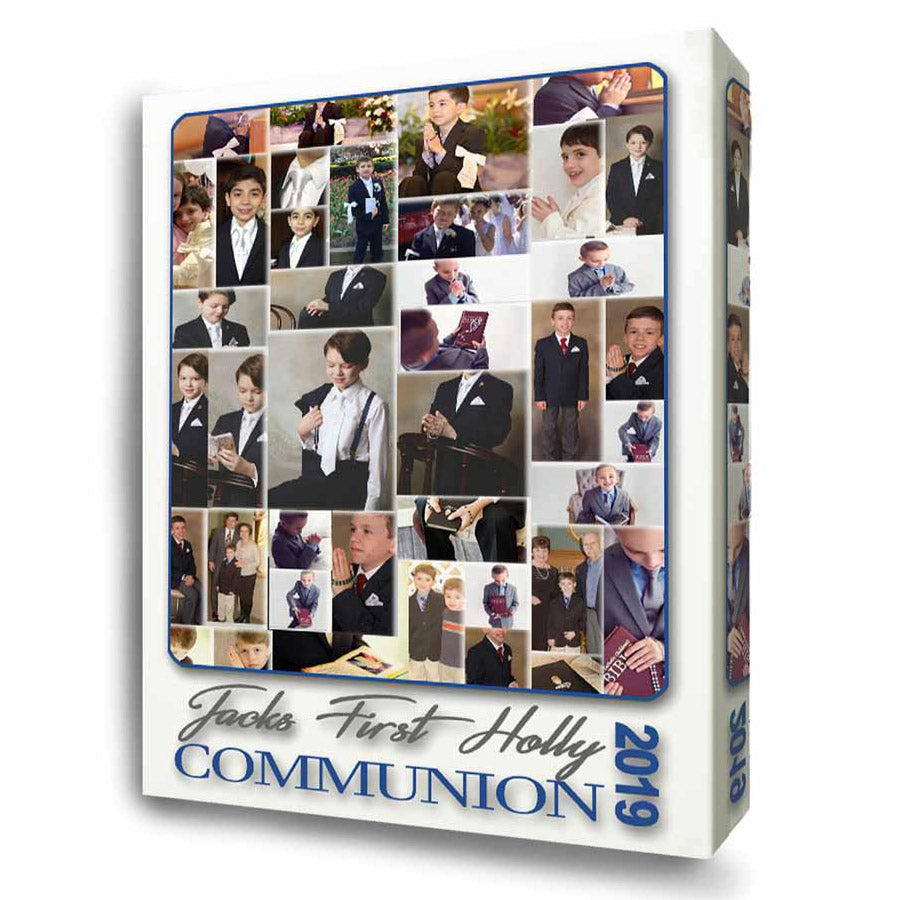 My First Holy Communion Photo Collage On Canvas