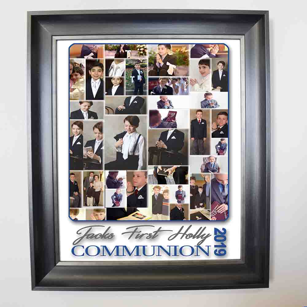 My First Holy Communion Sentiment Framed Photo Collage