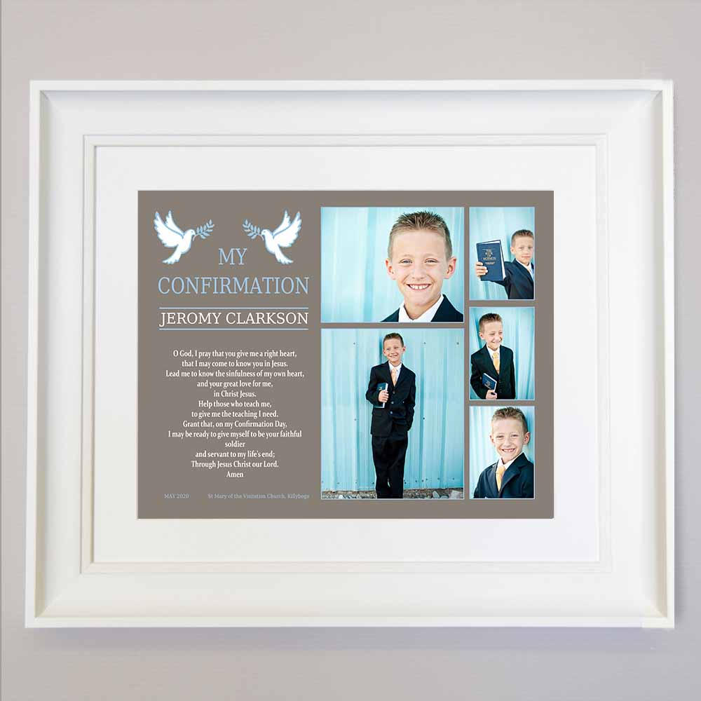 Confirmation Blessing Photo Collage Wall Art