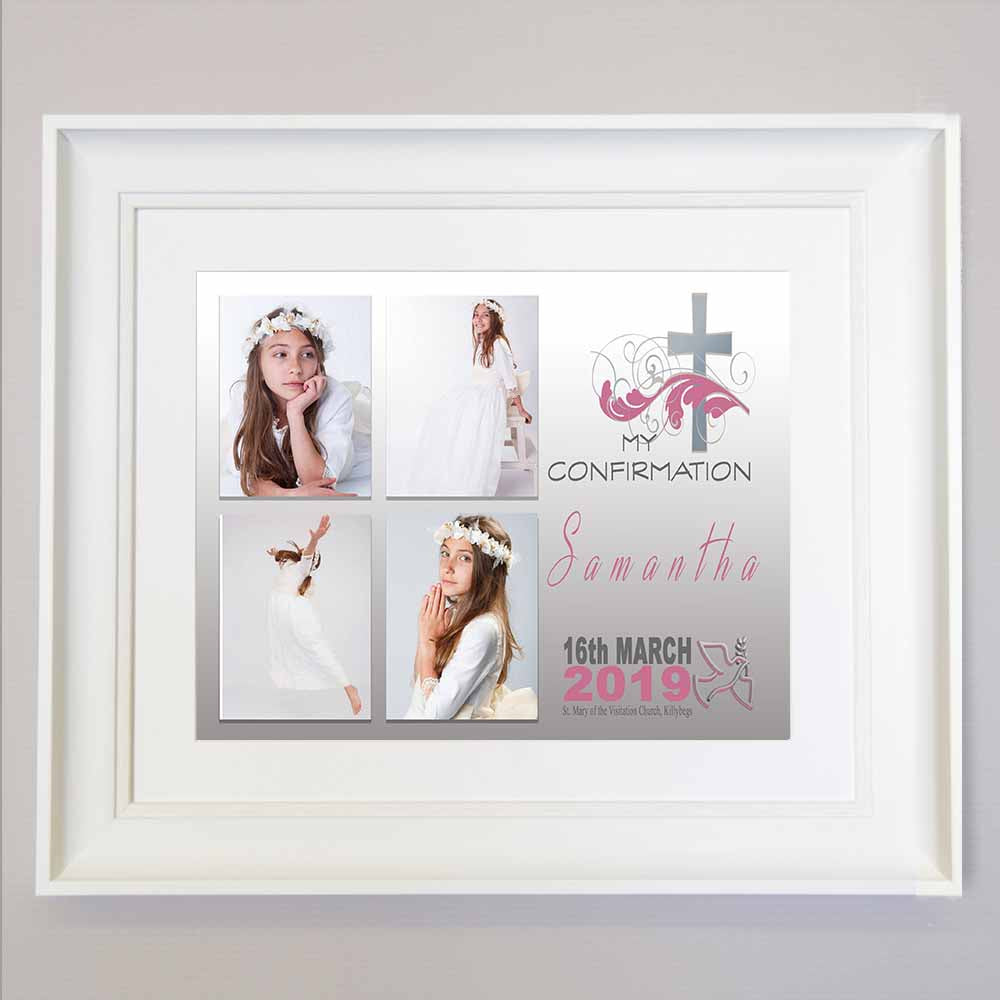 Holy Cross Confirmation Photo Collage Wall Art - Do More With Your Pictures