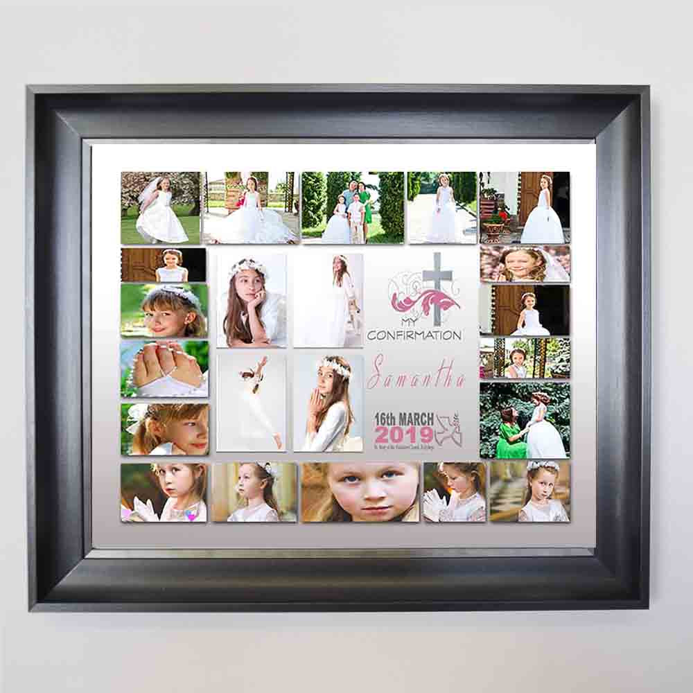 Holy Cross Confirmation Framed Photo Collage - Do More With Your Pictures