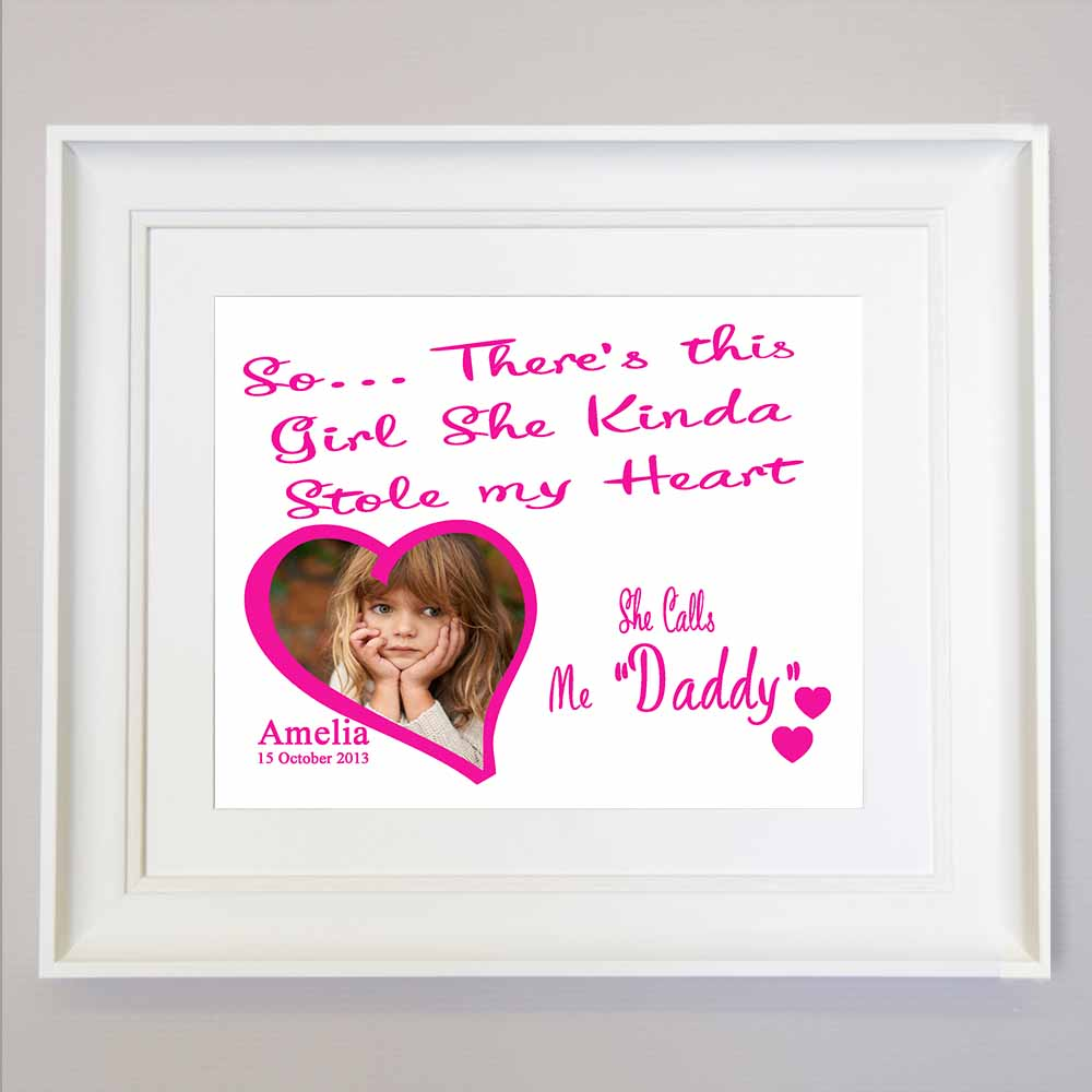 Stole My Dad Heart Sentiment Gift Frame