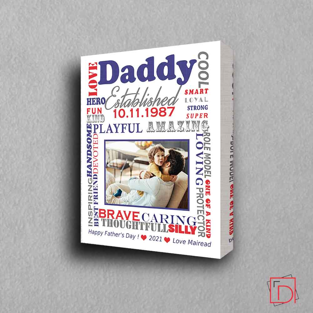 Dad Was Established Sentiment Gift Frame - Do More With Your Pictures