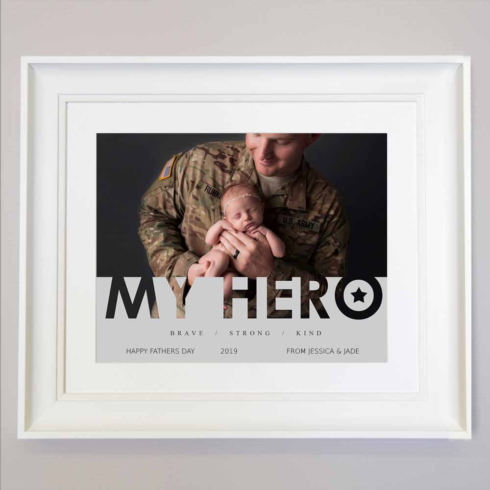 Dad Is My Hero Photo Collage Wall Art