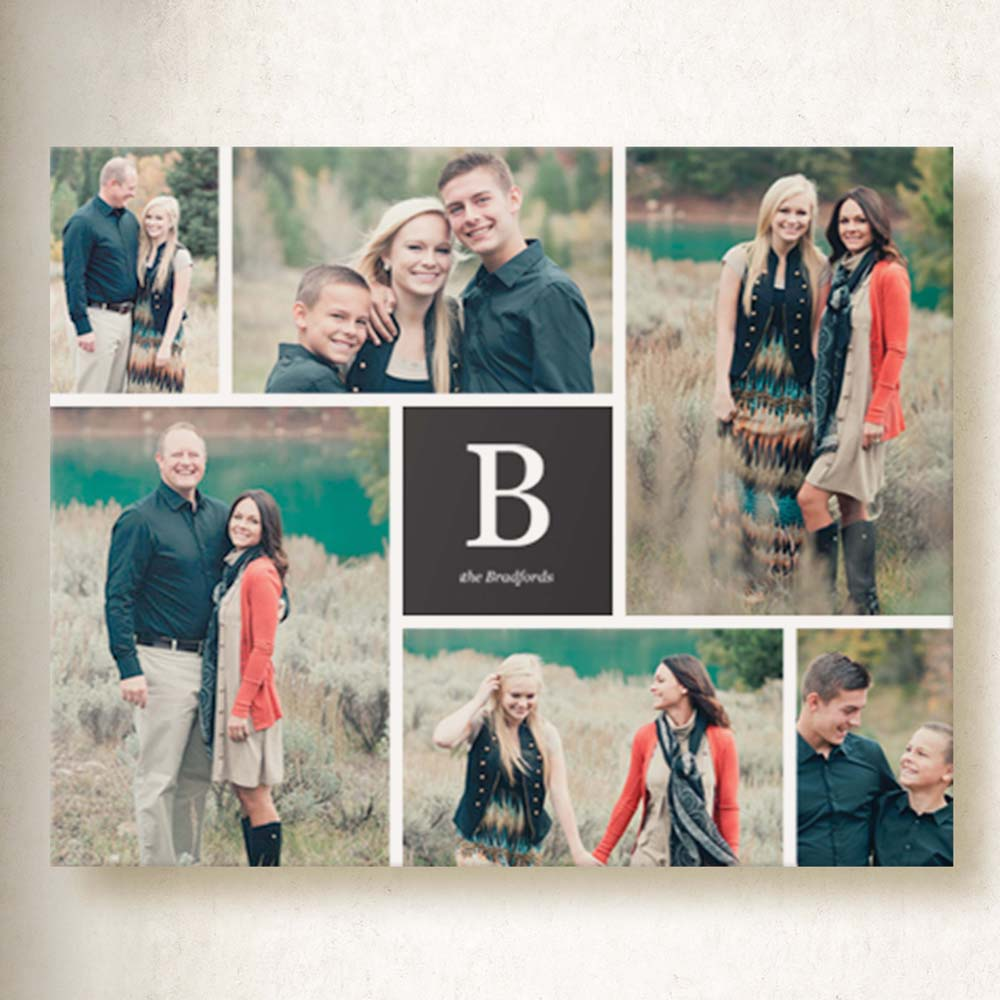 Monogram Family Moments On Canvas