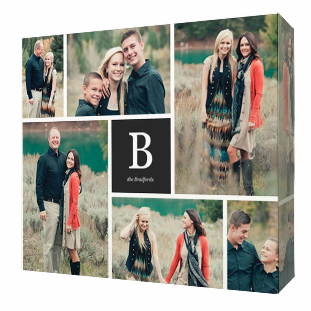 Monogram Family Moments Photo Collage Wall Art