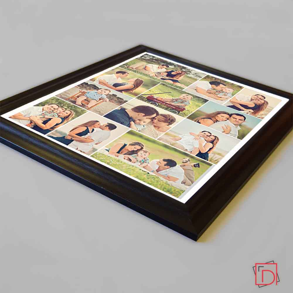 Tan Simple & Sleek Magical Framed Photo Collage