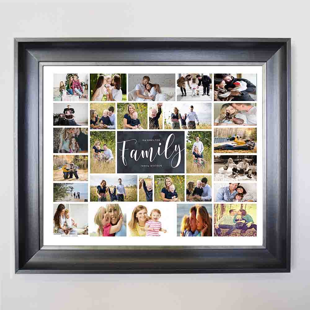 Family Love Framed Photo Collage - Do More With Your Pictures