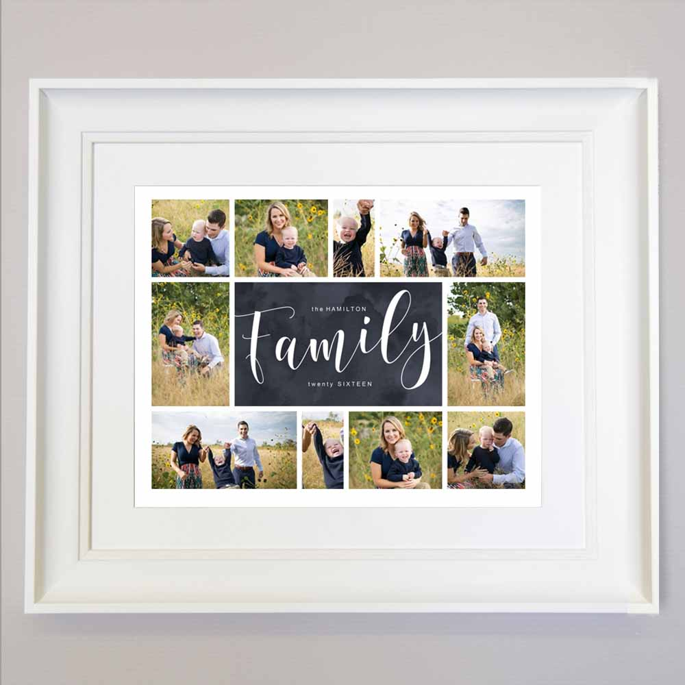Family Love Framed Photo Collage