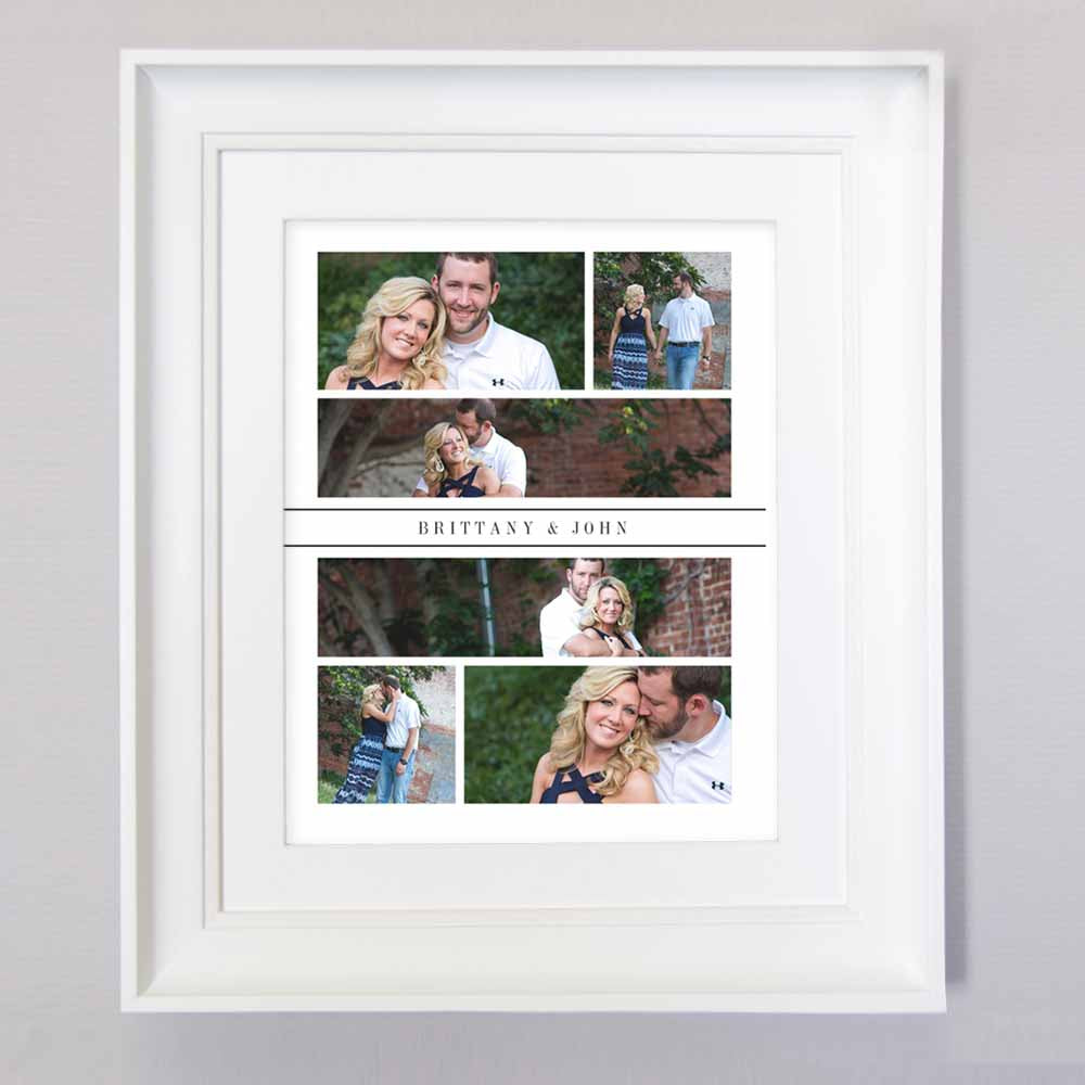 Engagement Moments Photo Collage Wall Art