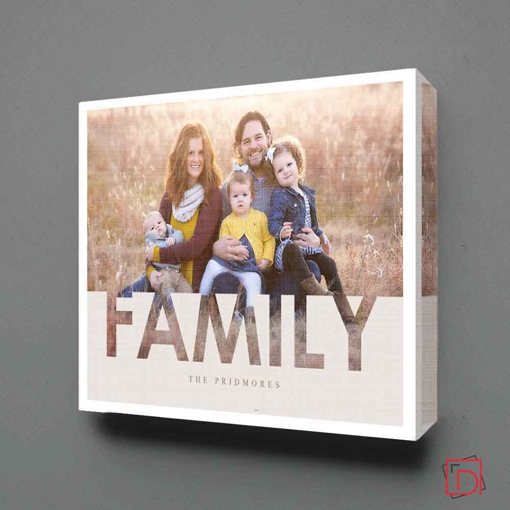 Our Family Memory Photo Collage Wall Art