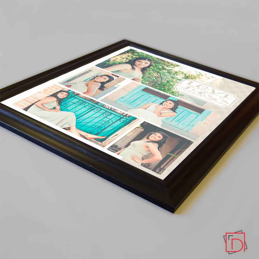 Medium Turquoise Love Of A Family Framed Photo Collage
