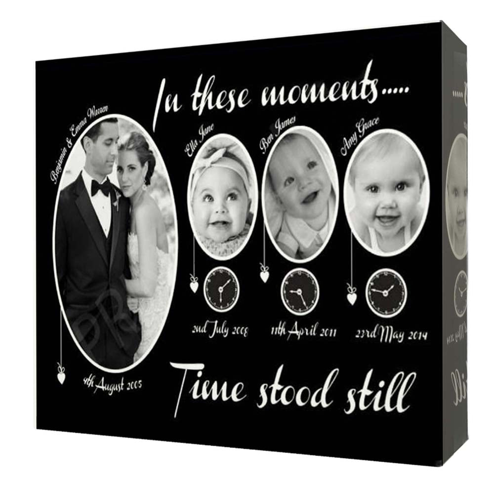 In These Moments Time Stood Still Family Wall Art - Do More With Your Pictures