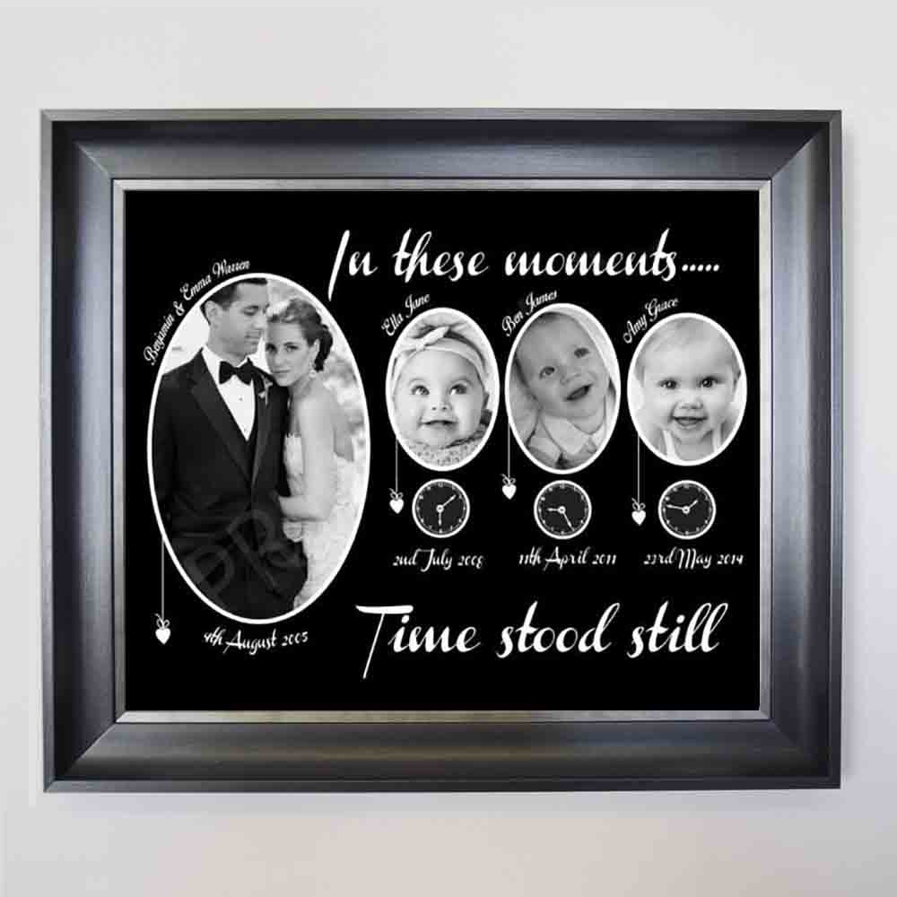 In These Moments Time Stood Still Family Framed Photo Collage - Do More With Your Pictures