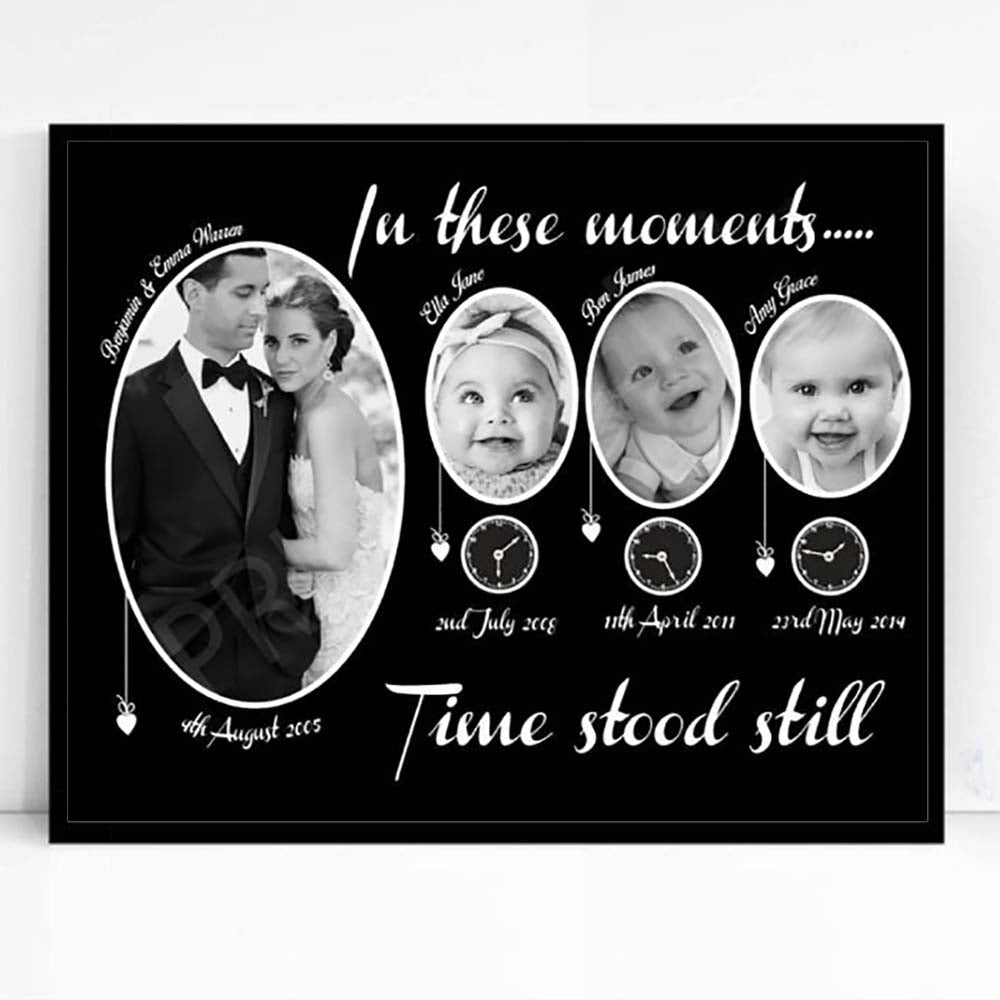 In These Moments Time Stood Still Family Framed Photo Collage