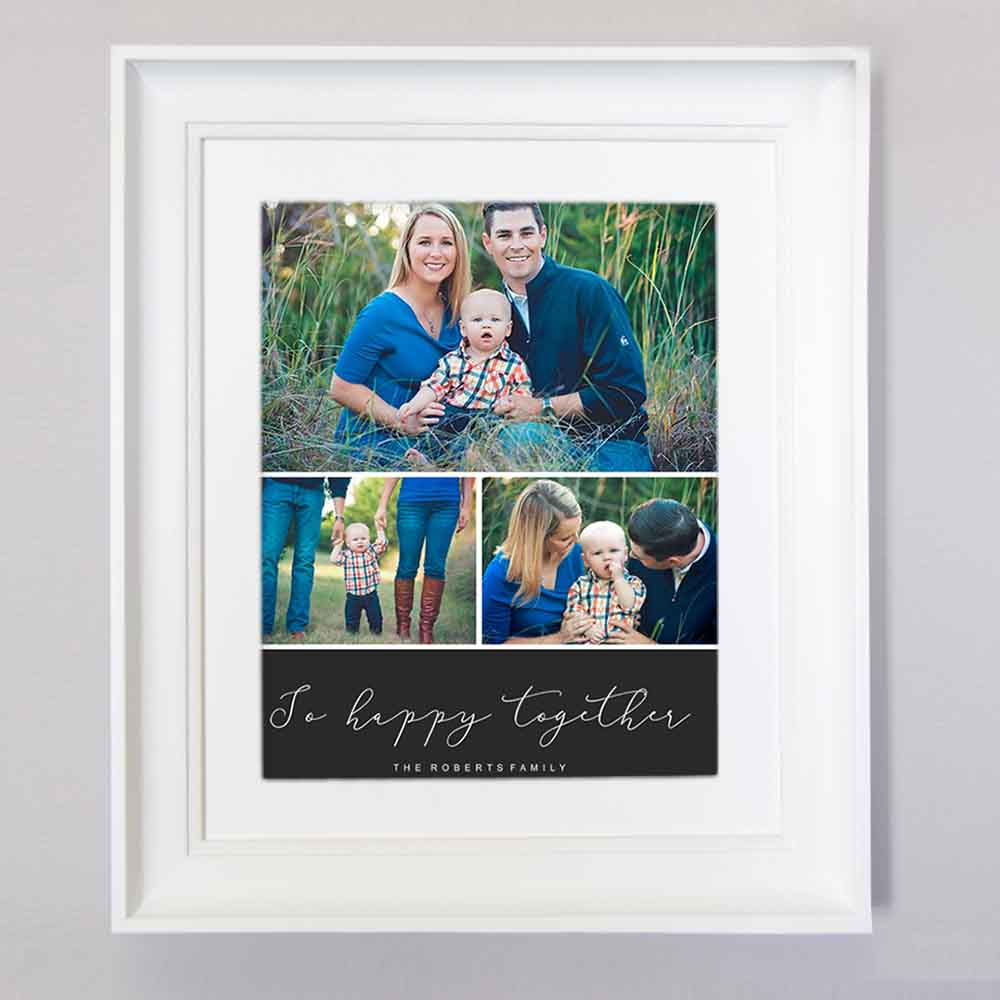 Be Happy Together Photo Collage Wall Art