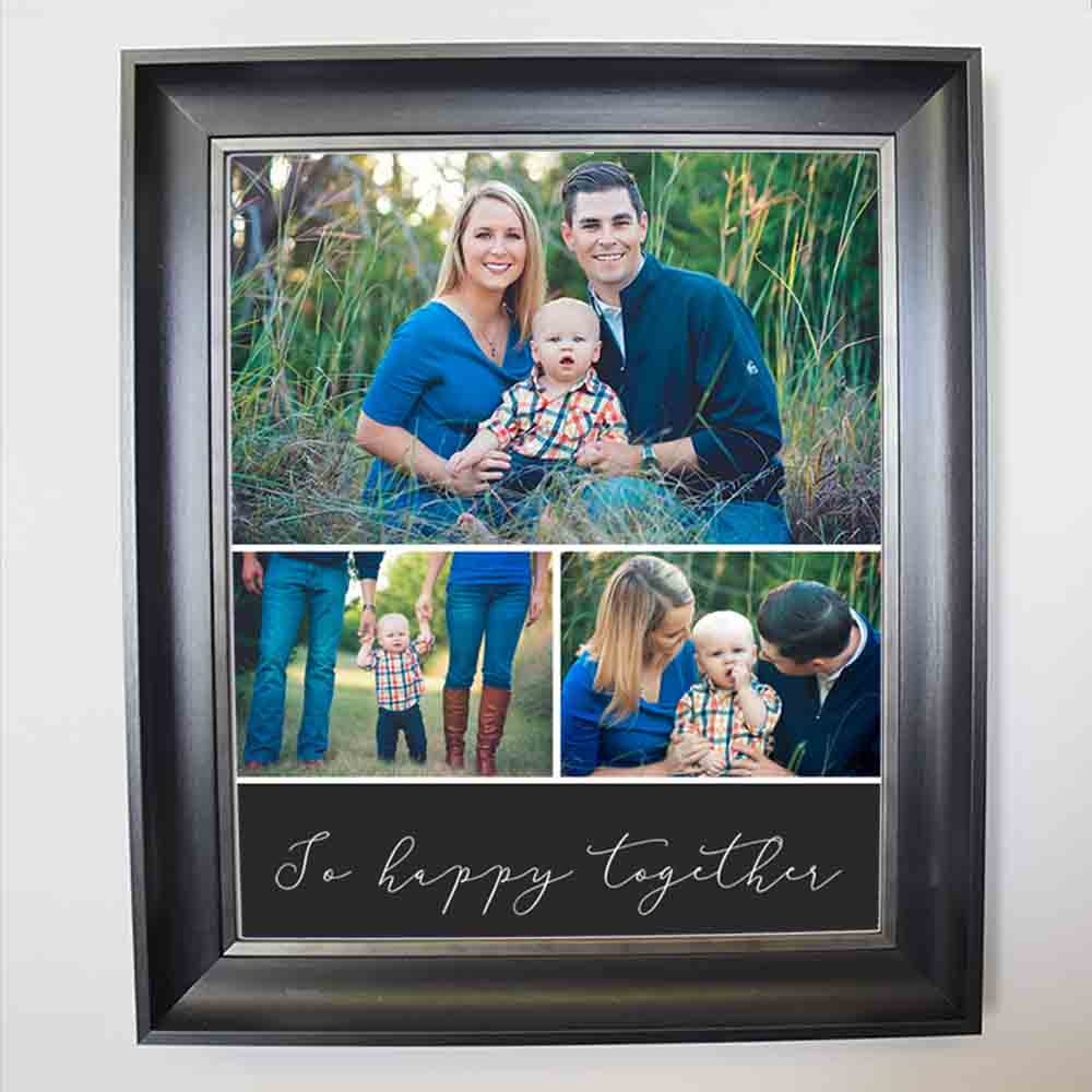 Lavender So Happy Together Framed Photo Collage