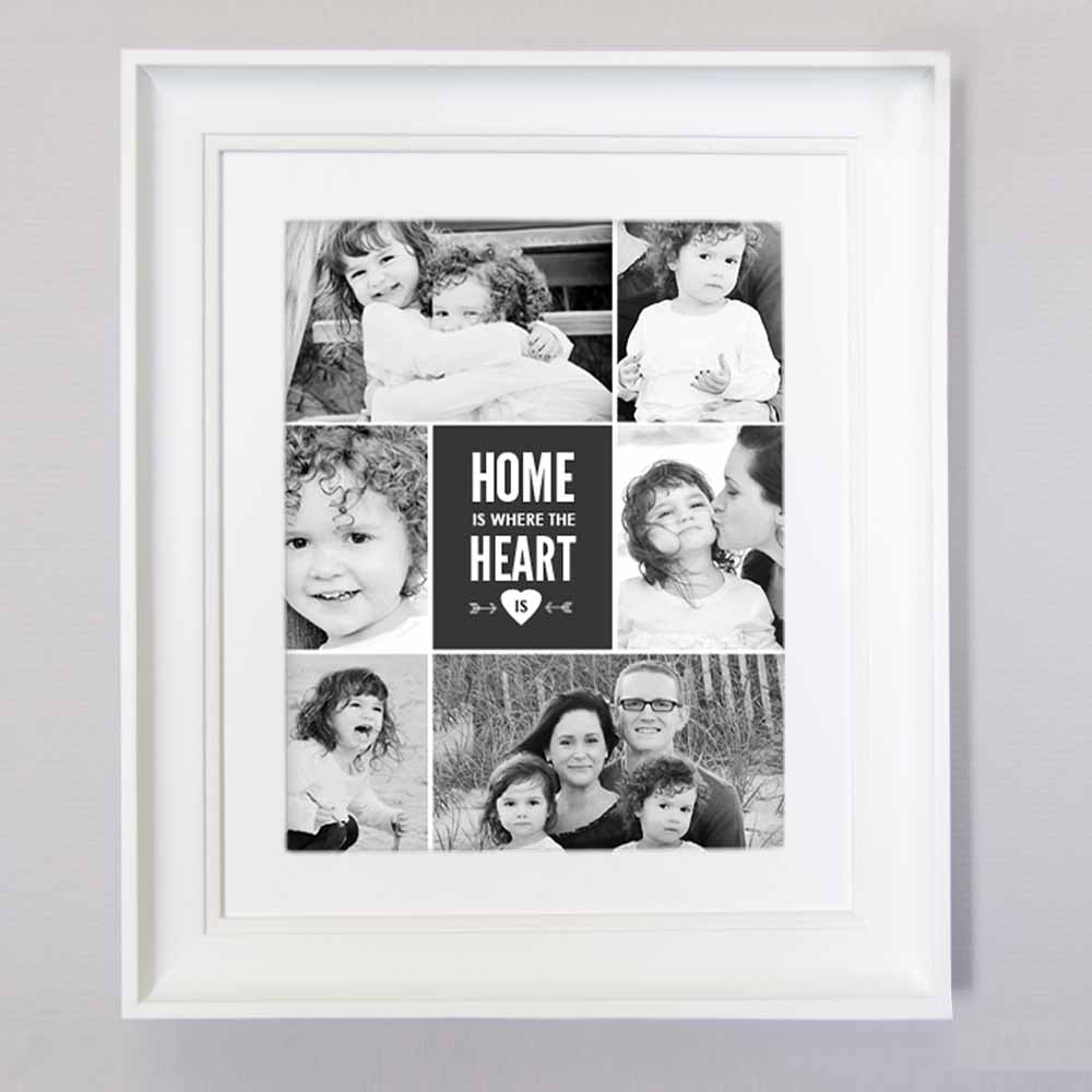 Home Is Where The Heart Is Photo Collage Wall Art