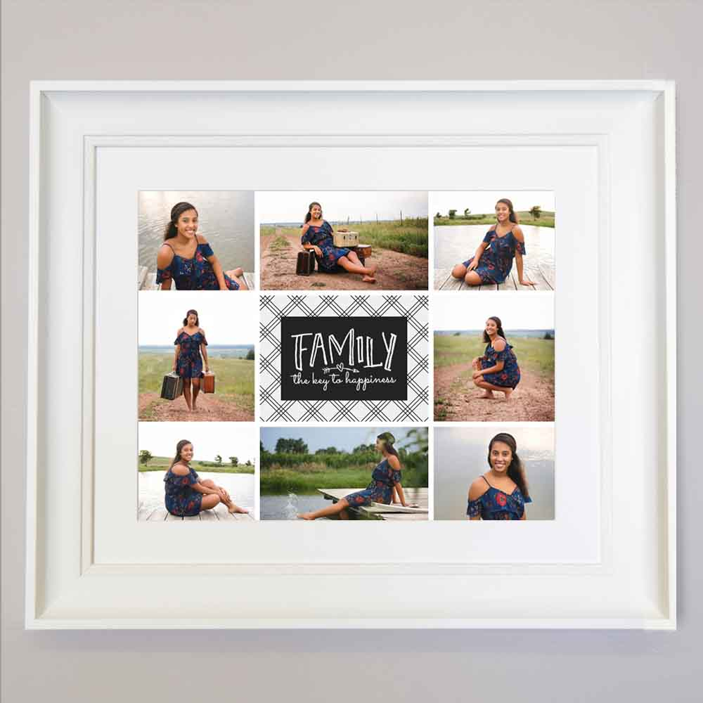 Key To Happiness Photo Collage Wall Art