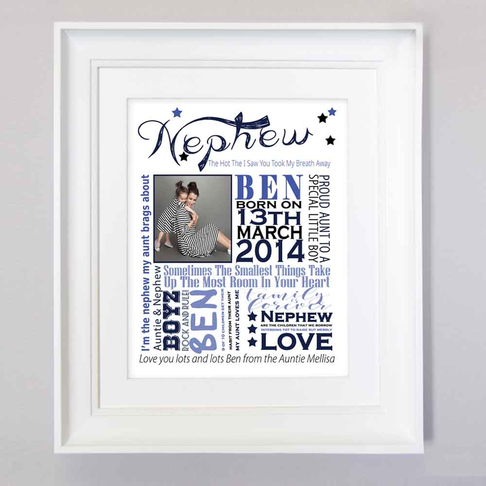 My Little Nephew Sentiment Gift Frame