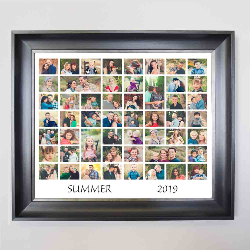 Rosy Brown Summer Memories Framed Photo Collage
