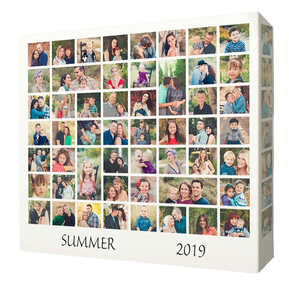Summer Memories Photo Collage On Canvas