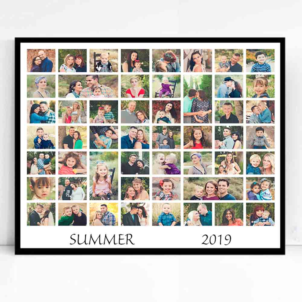 Gray Summer Memories Framed Photo Collage