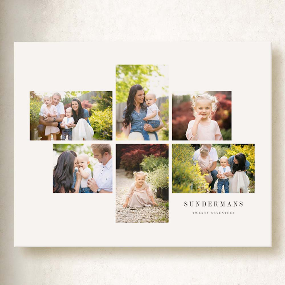 Family Moments Photo Collage On Canvas
