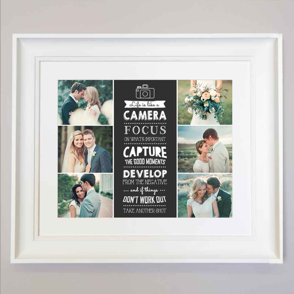 Life Is Like A Camera Photo Collage Wall Art