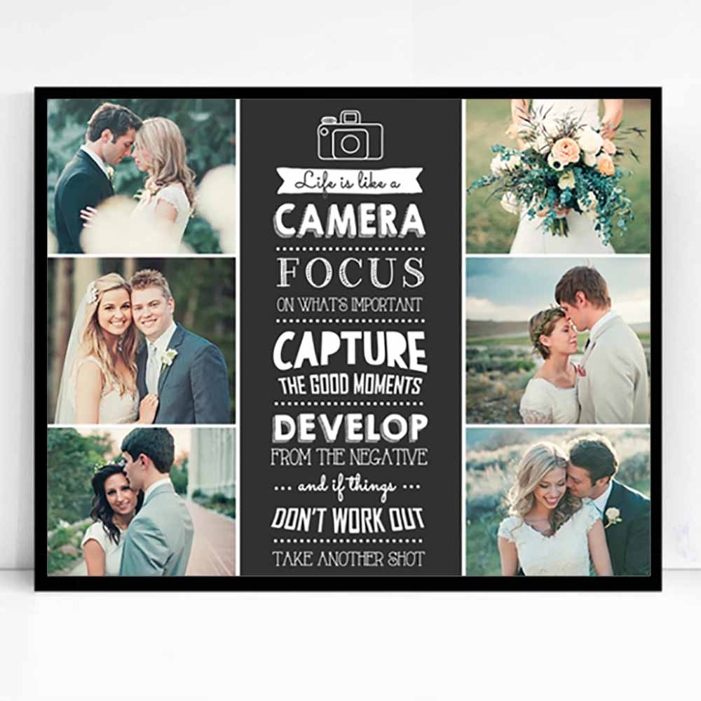 Focus On Whats Important Framed Photo Collage