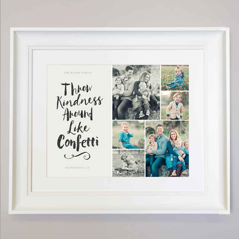 Throw Like Confetti Photo Collage Wall Art