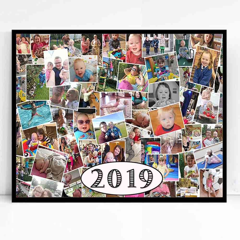 A Year In Review Framed Photo Collage - Do More With Your Pictures
