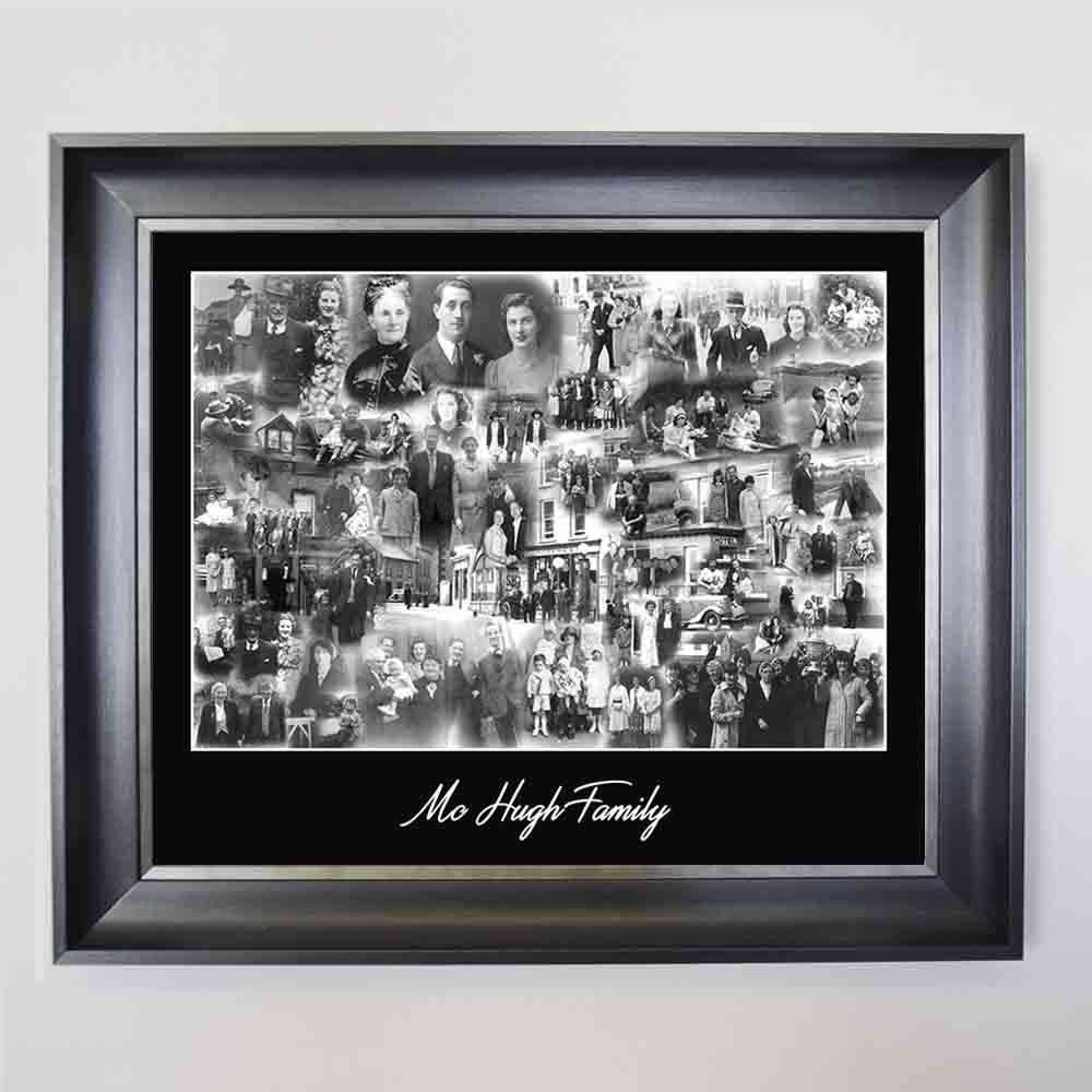 Dim Gray My Monochrome Family Framed Photo Collage