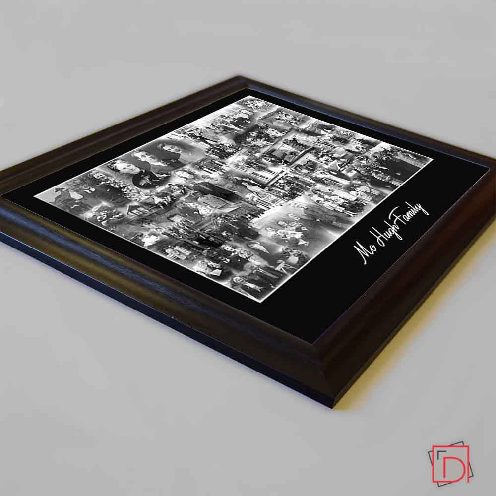 Black My Monochrome Family Framed Photo Collage
