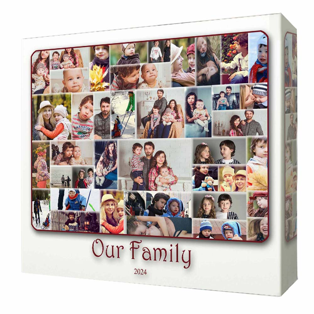 Our Family Cloud Photo Collage On Canvas