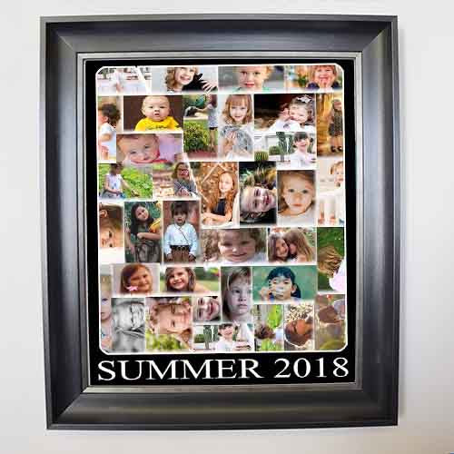 Rosy Brown This Summer Framed Photo Collage
