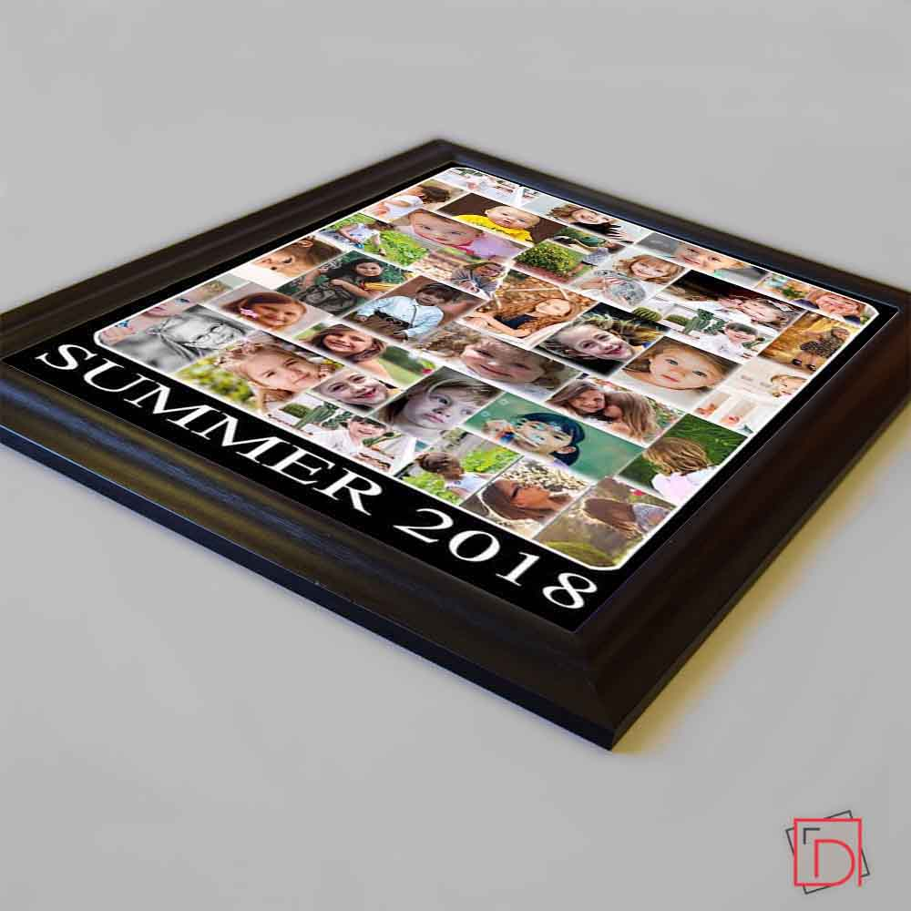 Black This Summer Framed Photo Collage