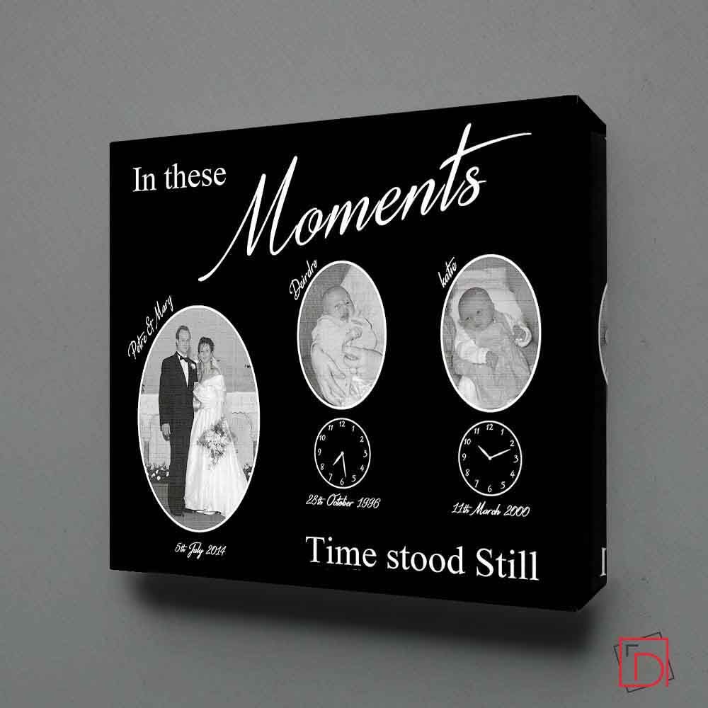 In These Moments Time Stood Still On Black Wall Art