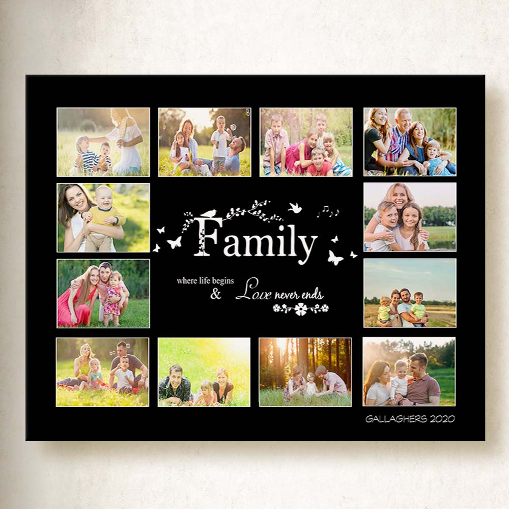 Family where Love begins Canvas Art