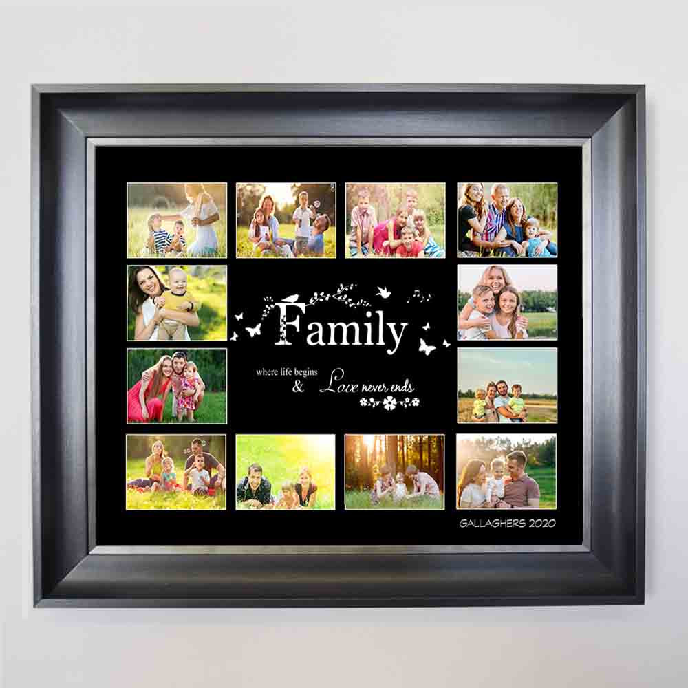 Family Where love begins Photo Collage - Do More With Your Pictures