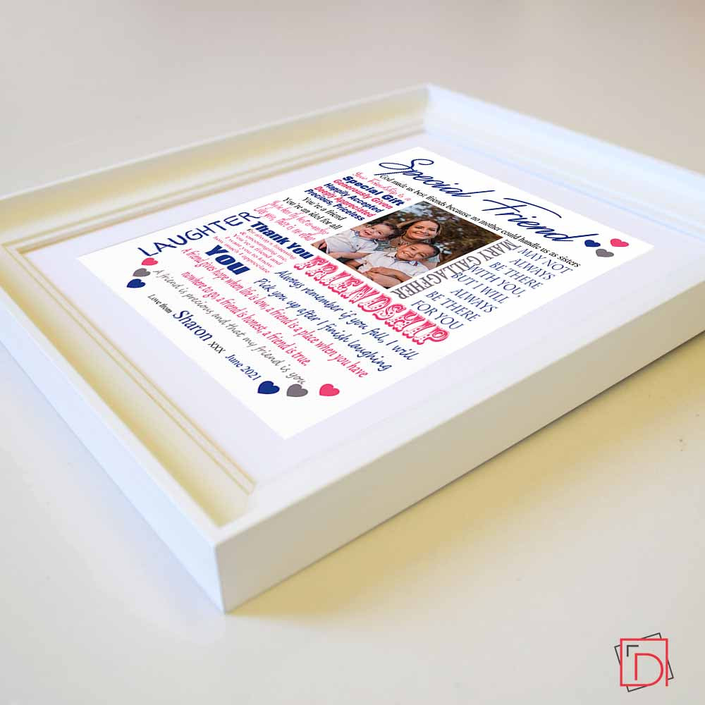 Friends Give Hope Sentiment Picture Frame