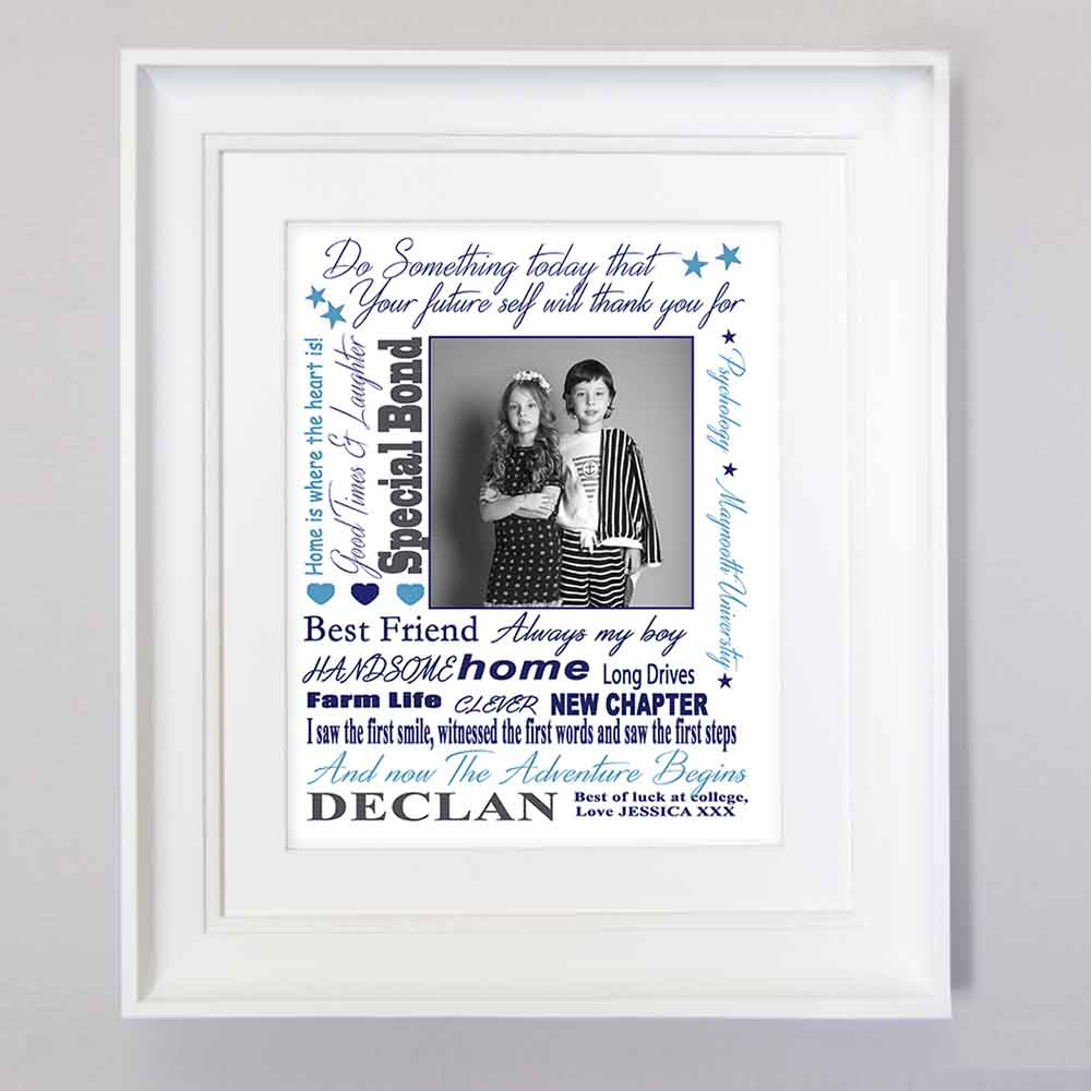 Best Friend Word Cloud Sentiment Frame - Do More With Your Pictures