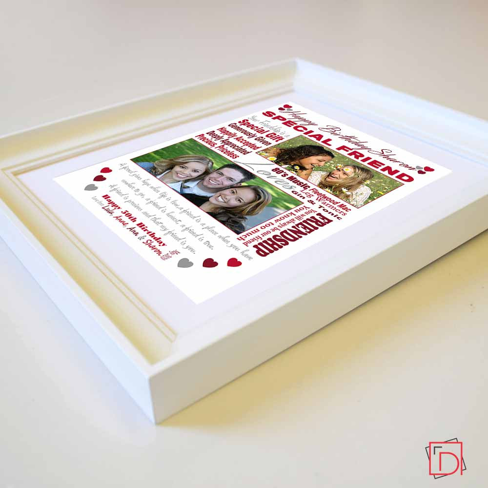 Best Friends Birthday Sentiment Frame