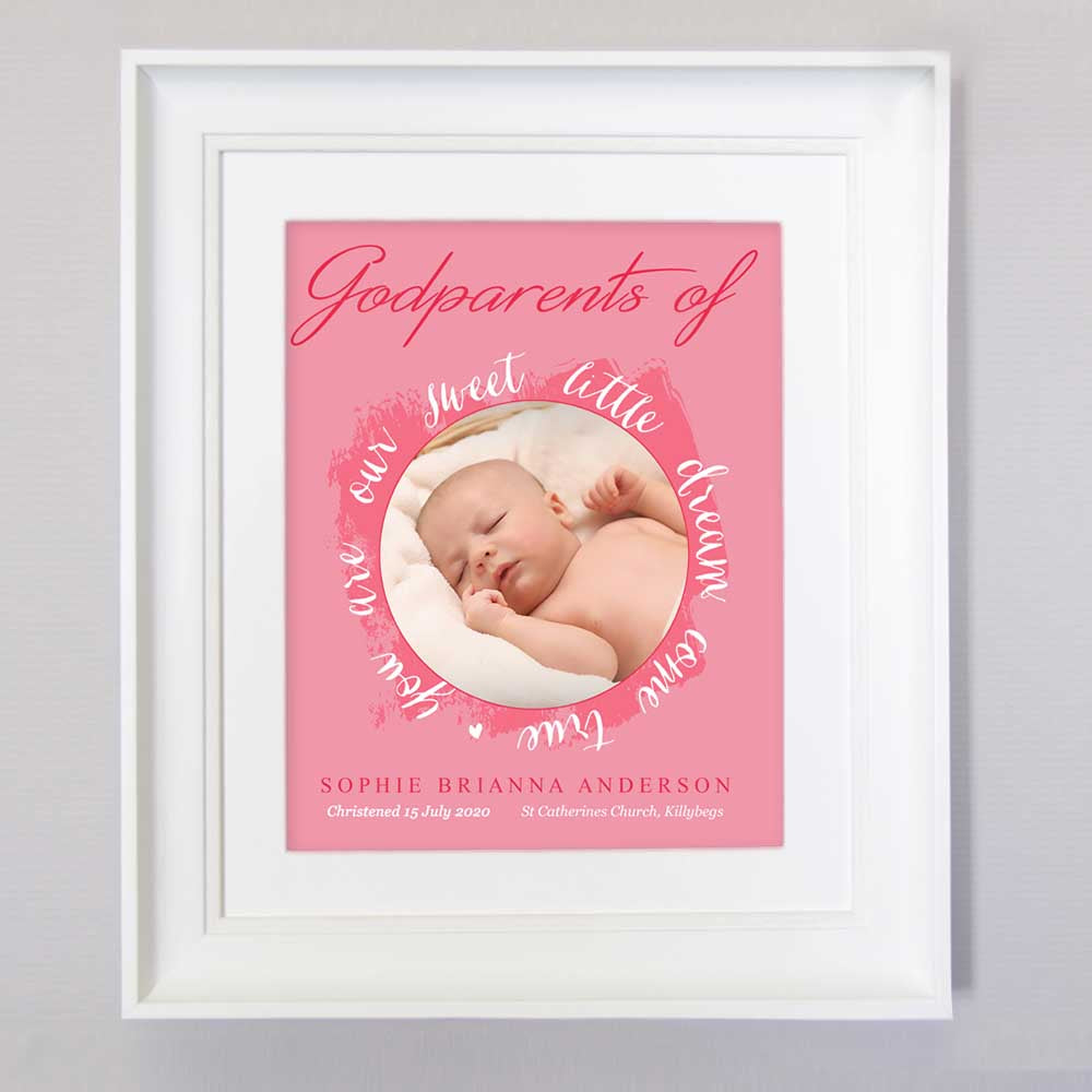 For My God Parents Sentiment Wall art - Do More With Your Pictures