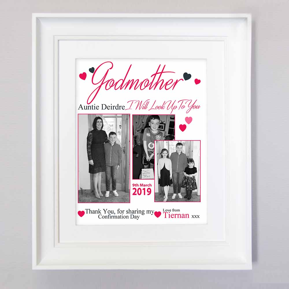 Godmother I Will Look Up To You Sentiment Frame - Do More With Your Pictures