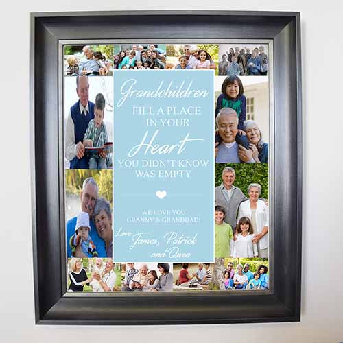Grandchildren Fill your Heart Framed Photo Collage - Do More With Your Pictures