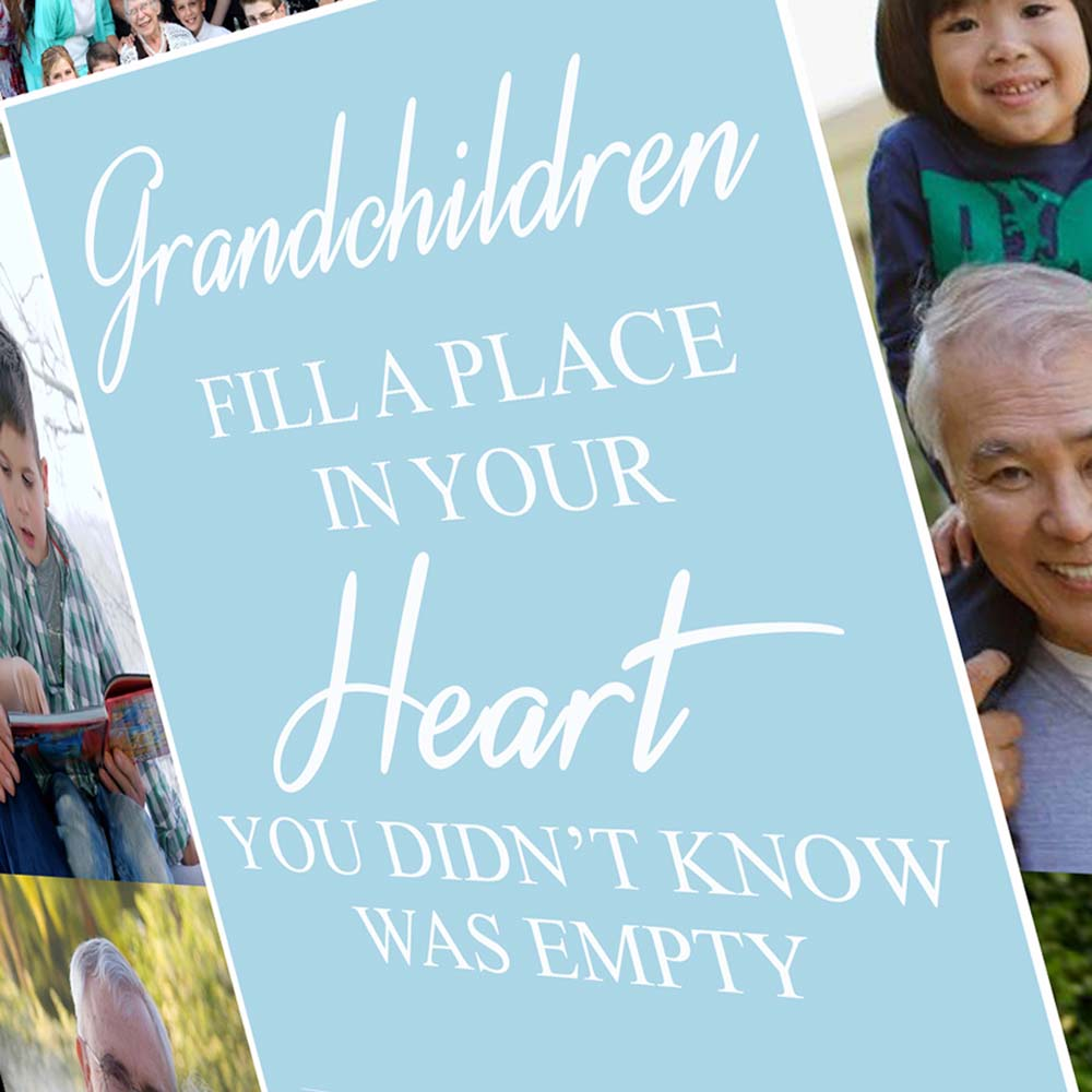Grandchildren Fill A Place In Your Heart On Canvas