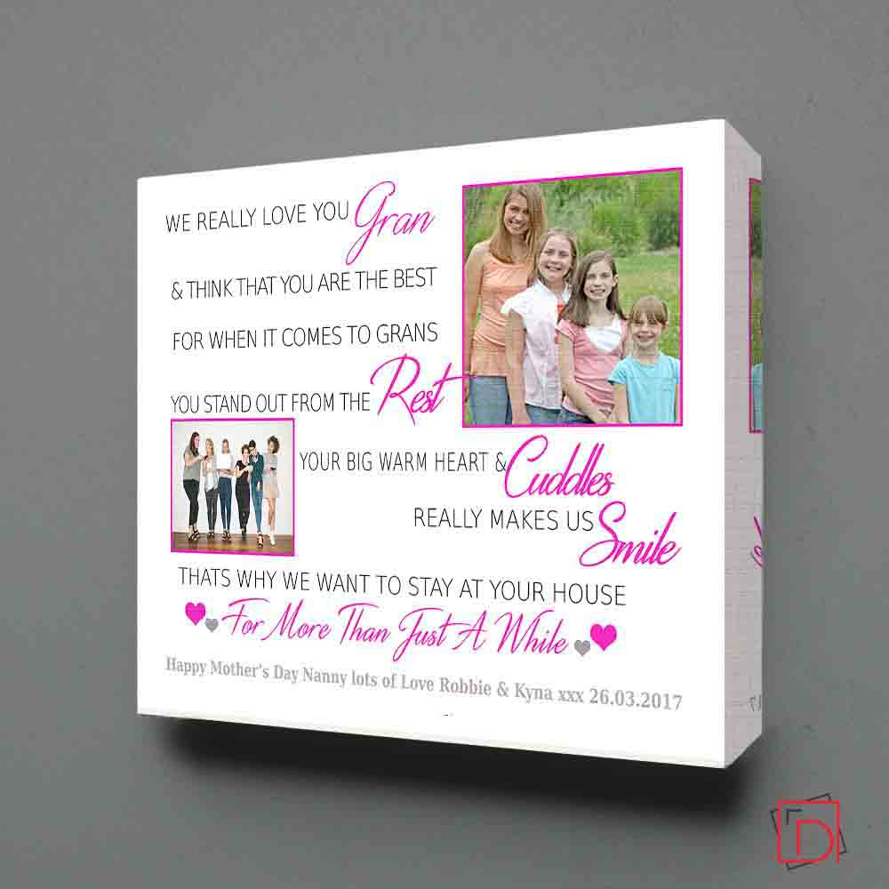 Love You Grandparent Sentiment Gift Frame