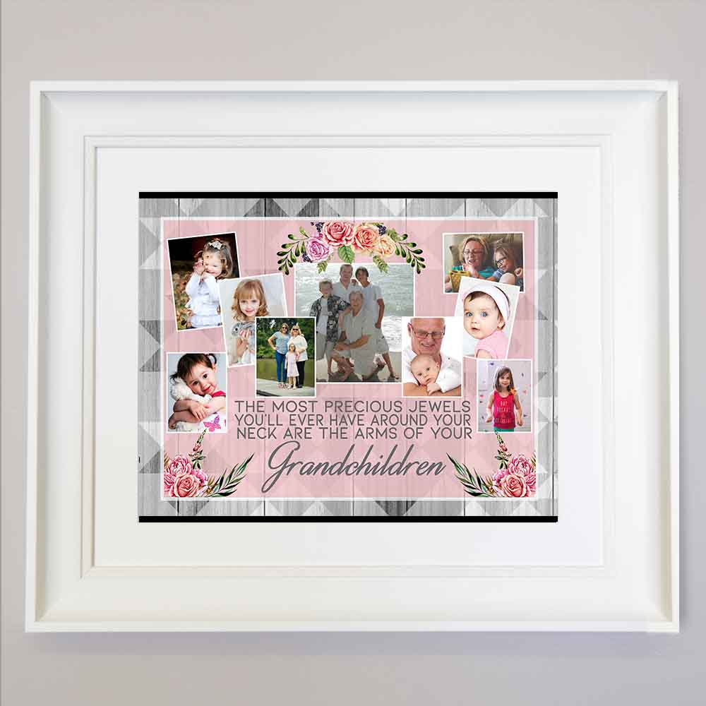 Gray The Most Precious Jewels Framed Photo Collage